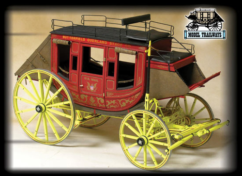 Concord Stagecoach Model Kit From Model Trailways - YouTube